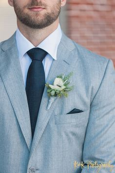 Light Gray Groom Suit   ~  we ❤ this! moncheribridals.com