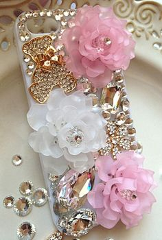 HANDMADE # etui iPhone 5S # BEAUTIFUL FLOWERS