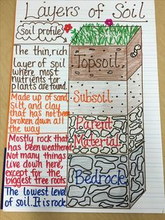 Layers of Soil Anchor Chart Teaching Biology Teaching Biology AnchorYou can find Teaching biology and more on our website.Layers of Soil Anchor Chart Teaching Biology Teaching Bio. Third Grade Science, Middle School Science, Elementary Science, Science Classroom, Science Education, Science Anchor Charts 5th Grade, 4th Grade Science Lessons, Earth Science Lessons, Science Lesson Plans
