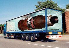 Publicidade da Coca Cola Zero no caminhão