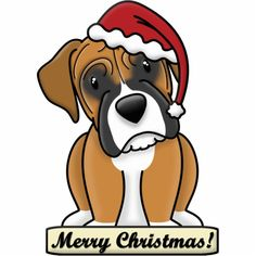 Shop Cartoon Boxer Christmas Ornament created by MenagerieMayhem. Dog Christmas Ornaments, Christmas Signs Wood, Christmas Dog, Christmas Crafts, Christmas Animals, Christmas 2017, Xmas Tree, Merry Christmas, Cartoon Dog
