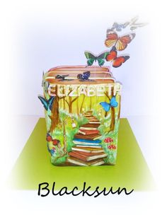 For young lady :) she loves to read fantasy books .. The cake is hand painted with wafer paper butterflies :)