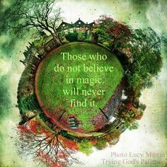 .Those who do not believe in magic will never find it!