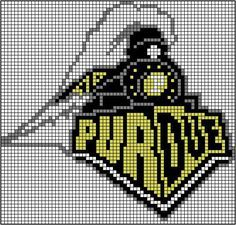 Old (more awesome) Purdue Logo Crochet Grid🔹Purdue Boilermakers Logo (2016)  🔹Great Ideas! 🔹💥More Pins Like This At FOSTERGINGER @ Pinterest 💥🔹