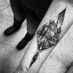 Sketch Style Tattoo Design on Forearm by Inez Janiak