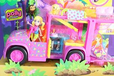 Playset Trailer Safari da Polly Pocket Slumber Party Camping - ToysBR