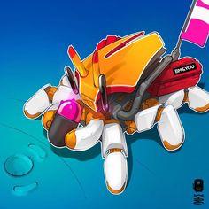 Robotic character design Donald Duck, 2d, Robot, Disney Characters, Fictional Characters, Character Design, Robotics, Robots, Fantasy Characters