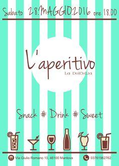 Happy hour flyer. Volantino per l'aperitivo da La Dolcelia! #aperitivo # happyhour # flyer #design