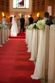 Ideas For Wedding Ceremony Decorations Church Pew Ends wedding pews Ideas For Wedding Ceremony Decorations Church Pew Ends Church Wedding Decorations Aisle, Wedding Church Aisle, Wedding Pews, Church Pews, Wedding Flowers, Pew Bows For Wedding, Decor Wedding, Diy Wedding, Budget Wedding