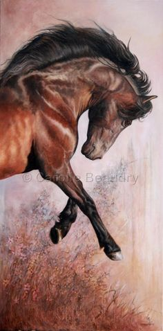 Horse painting by Carolle Beaudry