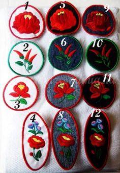 ef44773b6b Kalocsai felvarrók ruhára - többféle színben és többféle mintával