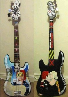 <I would sell my sole for the first one Fender Guitars, Fender Bass, Bass Guitars, Bass Guitar Lessons, Guitar Painting, Gerard Way, Pierce The Veil, It Goes On, Paramore