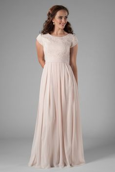 dac83abf7ac Maggie. Modest Bridesmaid DressesModest DressesChiffon ...