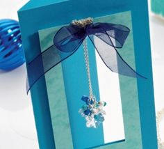 Snowflake Necklace Card
