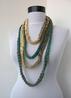 Gioielli a maglia - maglia Scarflette collana - collana intrecciata - in toni…