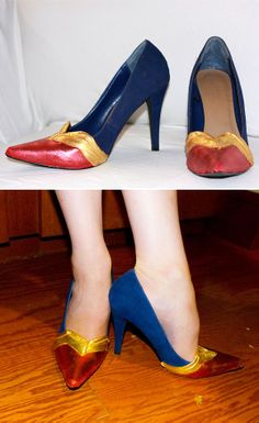 These look like Wonder Woman shoes