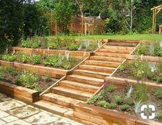 Side hill garden