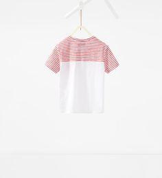 ZARA - KIDS - Striped contrast T-shirt