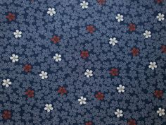 Japanese Fabric Cherry Blossoms In Dark Blue 1 Yard (F7-P17) 100% Cotton  110 x 100 cm