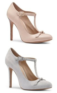 Anouk T-Strap Leather Heels....multiple pairs in various colors