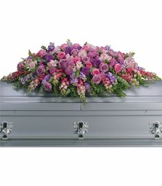 Order beautiful casket sprays & casket flowers from Teleflora. Honor your loved ones with casket flower arrangements hand-delivered by local florists. Funeral Floral Arrangements, Unique Flower Arrangements, Casket Flowers, Funeral Flowers, Grave Flowers, Holland Flowers, City Flowers, Church Flowers, Send Flowers