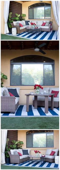 Here's a patio sectional that can be customized to fit whatever you need for your outdoor space. It's a 5-piece modular patio set that has the versatility to be used for seating or dining. Click through to learn how you can create your own collection with the help of The Home Depot!