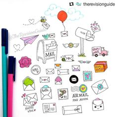 956 отметок «Нравится», 2 комментариев — Apsi's visual notes & doodles (@therevisionguide) в Instagram: «#Repost @therevisionguide with @repostapp ・・・ Happy mail doodles #TRG_RandomDoodle . . . . . .…»
