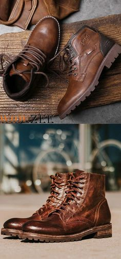 Mens Vintage Casual Round Toe Flat Martin Boots mens accessories - Men's style, accessories, mens fashion trends 2020 Men's Shoes, Shoe Boots, Dress Shoes, Men Boots, Cool Boots For Men, Casual Boots For Men, Mode Vintage, Vintage Men, Mode Masculine
