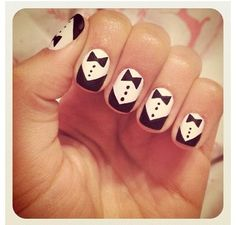 Bow tie nails for the JT concert!!