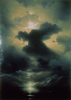 loumargi:  Chaos (The Creation), 1841 (oil on canvas) by Ivan Konstantinovich Aivazovsky
