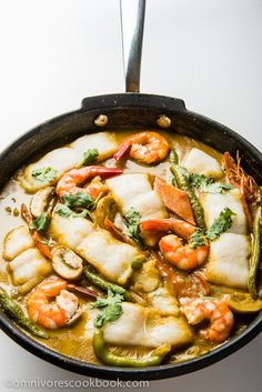 Coconut Fish Curry - An easy and scrumptious curry dish that is full of flavor and balanced in nutrition, and only takes 30 minutes to cook! | omnivorescookbook.com