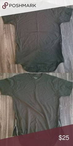 Men scalloped shirt with zippers Men scalloped shirt sleeve shirt with zippers. Brand new never worn. Shirts