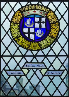 William Sinclare, Earl of Caitness. Stained Glass Window, Great Hall, Stirling Castle.