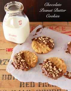 Chocolate Peanut Butter Cookies by www.cookingwithruthie.com. via http://www.beneathmyheart.net/2014/07/18229/
