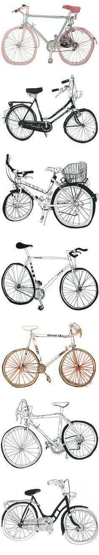 Bikes, by Marion Taschler <3