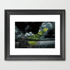 a day in a cornfield Framed Art Print by jei delete - $40.00