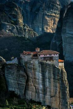 Meteora by Svilen Simeonov on -Kalambaka - Greece (this has to be from Bond! Oh The Places You'll Go, Places To Travel, Places To Visit, Life Is Beautiful, Beautiful Places, Travel Around The World, Around The Worlds, Myconos, Earth Photos
