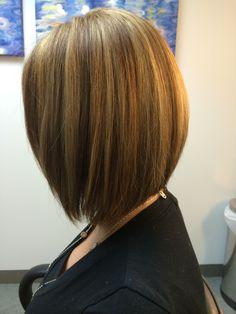 Shorter inverted bob. By Lucy Lopez