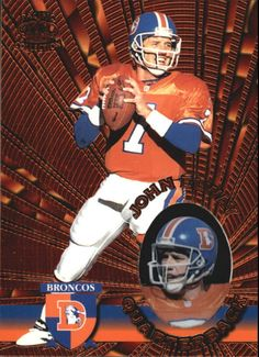 1996 (BRONCOS) Pacific Invincible Bronze #42 John Elway #PacificInvincible #DenverBroncos