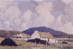Paul Henry - Lakeside Cottages 1929