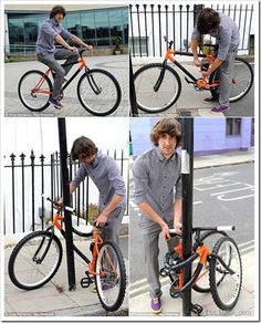 This self-locking bike that saves you from carrying bulky standard locks.