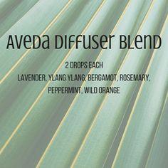 Aveda Diffuser Blend Lavender, ylang ylang, bergamont, rosemary, peppermint, wild orange