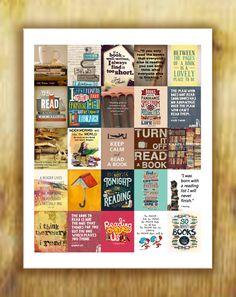 Books Quotes Stickers for Erin Condren Life Planner  Digital