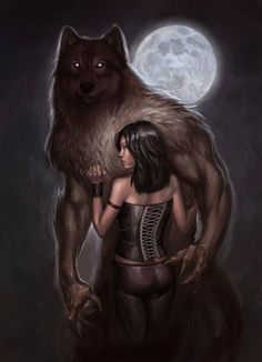 Werwolf and girl