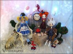 Urchin Art Dolls by Vicki at Lilliput Loft