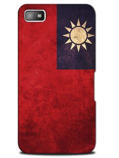 Taiwan Vintage Country Flag Case Cover Design for Blackberry