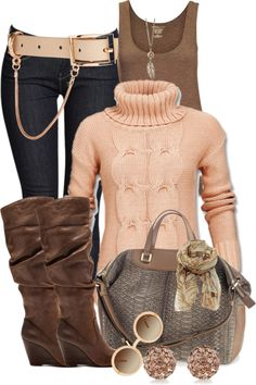 """""""Ribbed Sweater"""" by mssgibbs ❤ liked on Polyvore"""