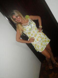 Criação Fashion: Continuação do look amarelo, este estampádinho su...