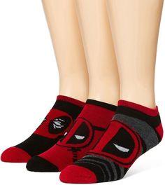 MARVEL Marvel Deadpool 3-pk. Athletic Low-Cut Socks