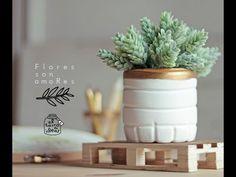 (43) Florero de cemento con botellas de agua - YouTube